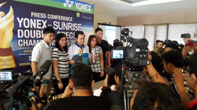 Press Conference Kejuaraan Yonex Sunrise Doubles Special 2015