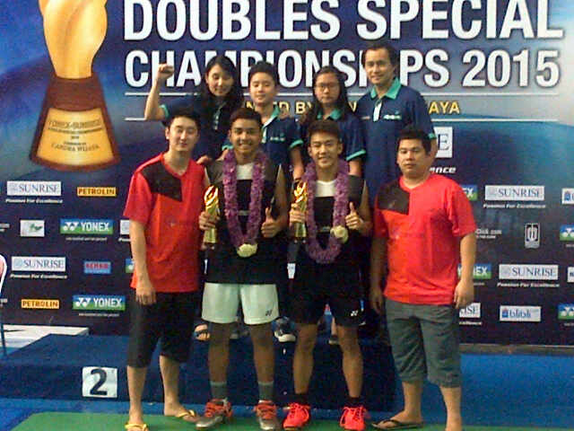 Rizky Adam/Raynald Tangguh Hartanto Juara Remaja Ganda Putra YSDSC 2015