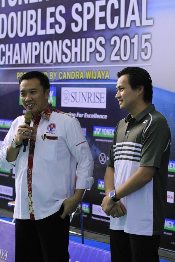 Menpora Turut Hadir Memberi Support Kepada Candra Wijaya Di Kejuaraan (YSDSC 2015)